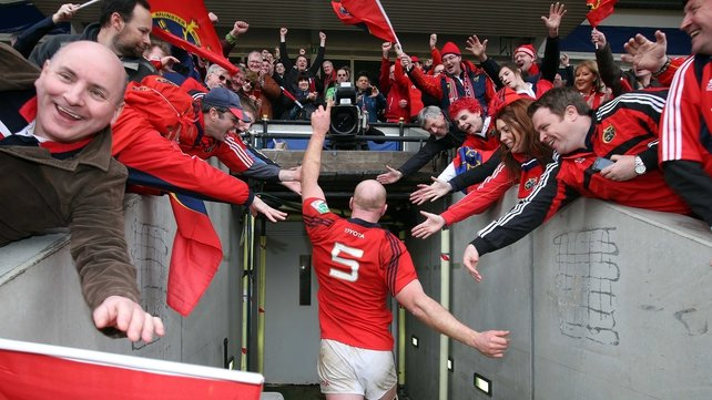 Munster fans created a Thomond-like atmosphere at The Stoop on Sunday