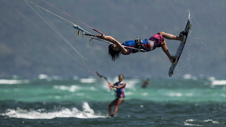 Aya Oshima competes freestyle at the KTA at Boracay Island in Makati, Philippines
