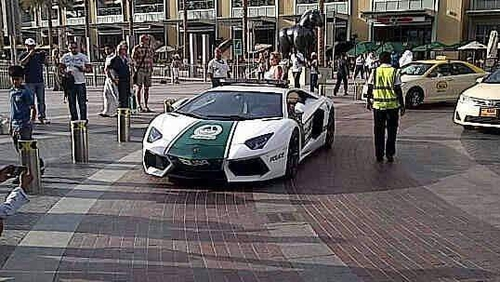 Dubai police showed off the new purchase on their Twitter page (Pic: @DubaiPoliceHQ)