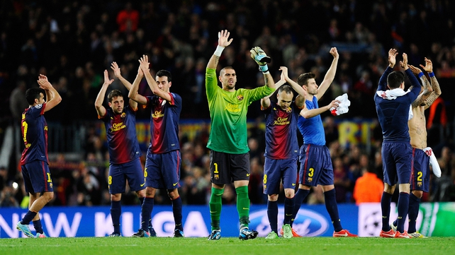 Barcelona face the German champions Bayern Munich in the semi-finals