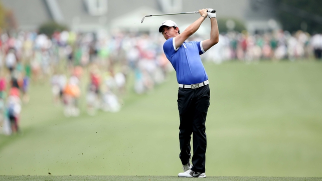 Rory McIlroy was one of the last groups out on the opening day at Augusta