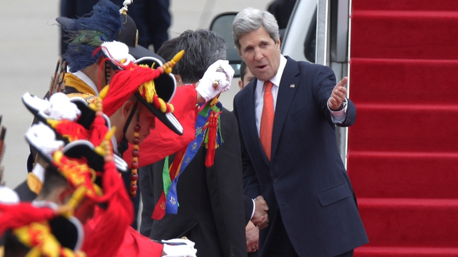 US Secretary of State John Kerry in South Korea for talks
