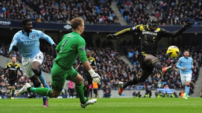 Demba Ba in action against Man City