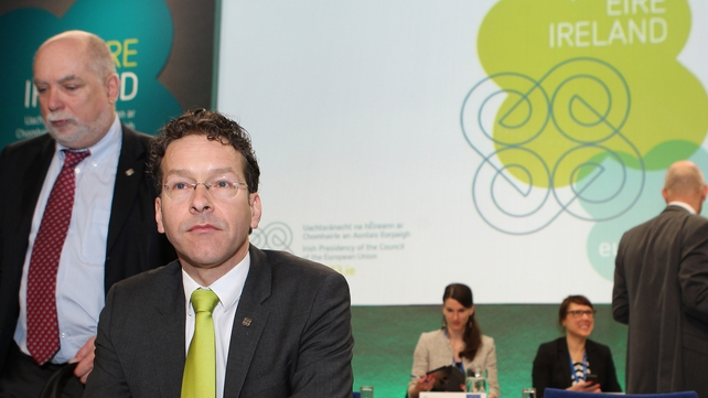 Eurogroup chairman Jeroen Dijsselbloem congratulates Ireland on steadfast progress