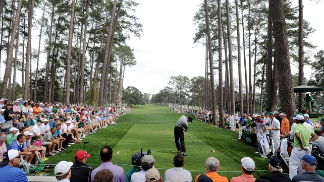 Tiger Woods teed off at 18.41 on two under