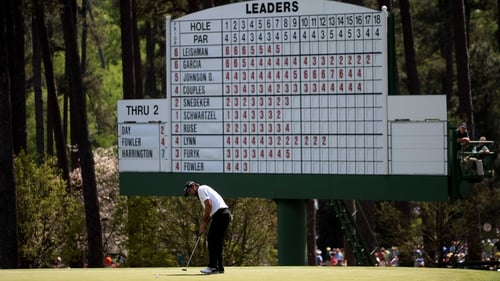 Jason Day holds the half-way lead at Augusta National