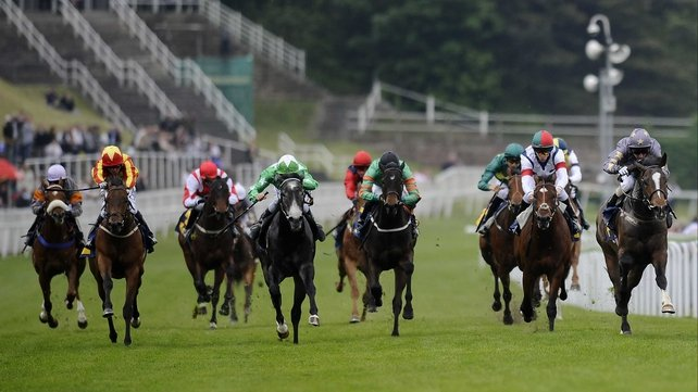 Gabrial (right), seen here winning in 2012, made a successful start to this season with victory in the Doncaster Mile