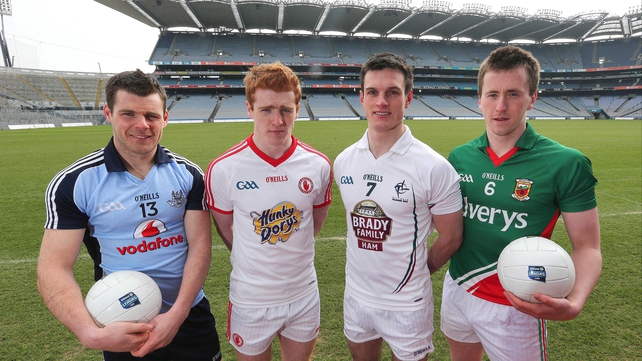 Kevin McManamon, Peter Harte, Eoin Doyle and Cillian O'Connor will all be in action in Croke Park today