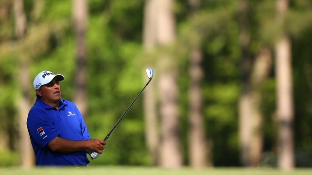 Angel Cabrera was joint-top of the Masters leaderboard after Saturday's play