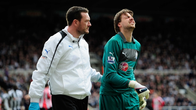 Tim Krul will miss the rest of the season with a dislocated shoulder