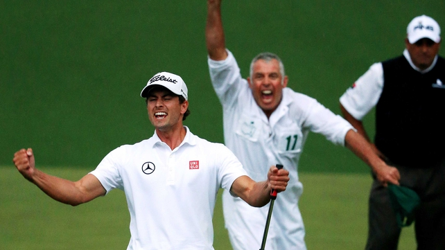 Australia's Adam Scott won the Masters after the second play-off hole at Augusta National