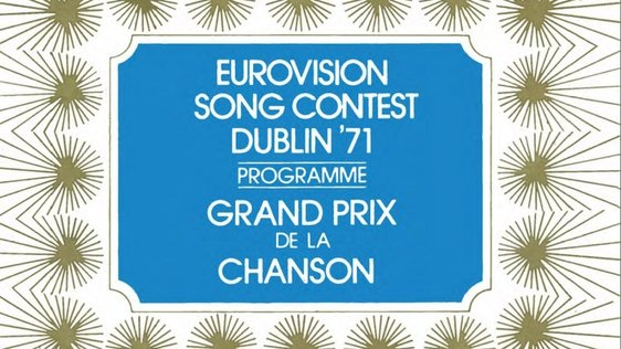 Eurovision Song Contest, Dublin, 1971