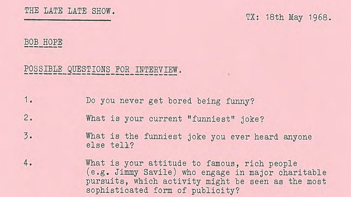 Bob Hope Interview Guide - Late Late Show