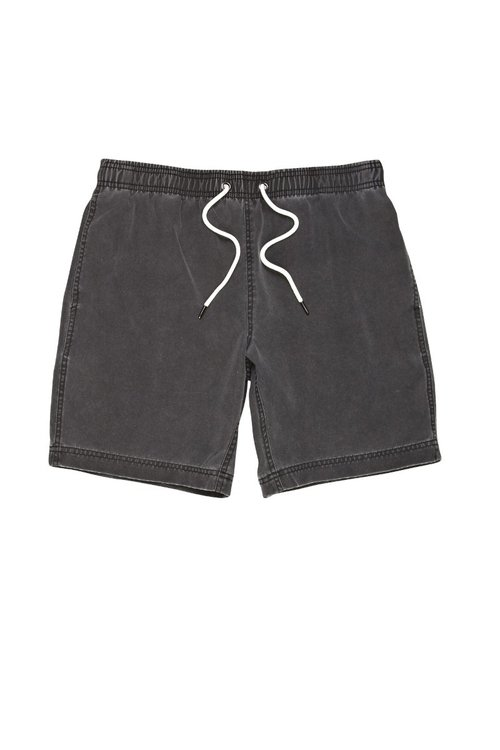 River Island grey wash, denim-look shorts, €25, available in-store or online from riverisland.com.