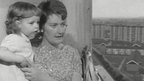 Adelaide Waldron and daughter on the balcony of their Ballymun home.