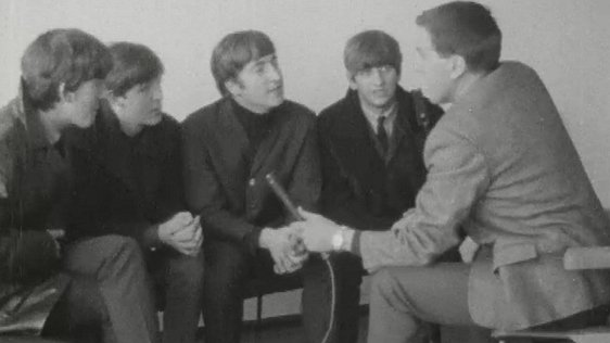 The Beatles talk to Frank Hall.
