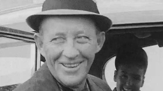 Bing Crosby and his wife Kathryn at Dublin airport.