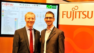 Fujitsu's Anthony McCauley and Pierre-Yves Vandenbussche unveiled the new platform