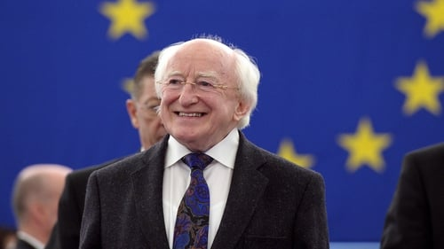 Michael D Higgins said policies that just stabilise the euro are not enough