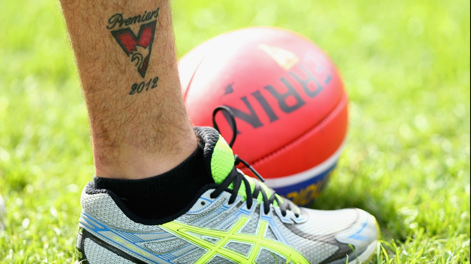 Sydney Swans' Rhyce Shaw spent the off-season getting inked after winning the 2012 Premiership