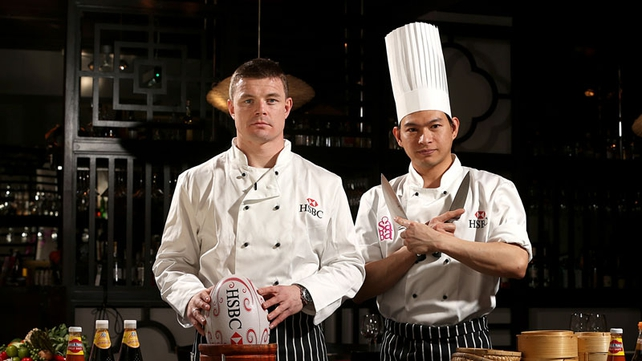 O'Driscoll with sous-chef Yo
