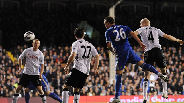 John Terry powers home his first goal of the night