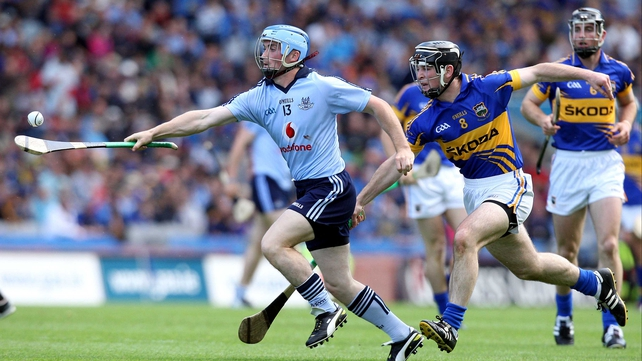 David O'Callaghan in action against Tipp in the 2011 All-Ireland semi-final