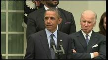 President Barack Obama reacts to the Senate's vote