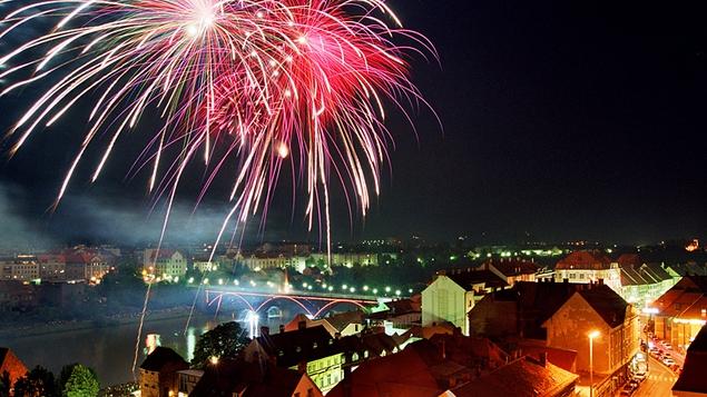 Fireworks over Maribor