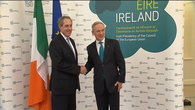 US trade advisor Mike Froman took part in the EU ministers' meeting in Dublin