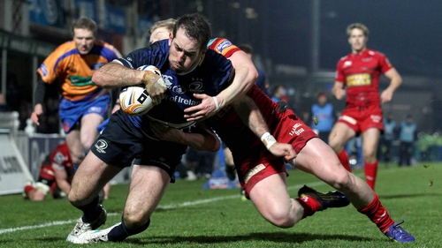 Andrew Goodman touches down against Scarlets