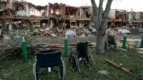 The remains of an apartment complex next to the fertilizer plant that exploded in West, Texas