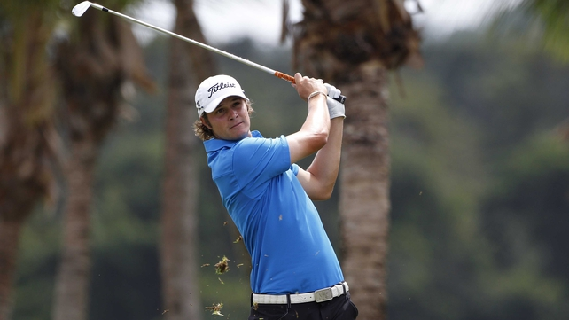Former world number one amateur  Peter Uihlein shot a fine 68 at El Saler