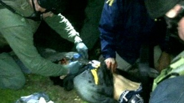 Dzhokhar Tsarnaev now in a serious condition in a Boston hospital after treatment at the scene