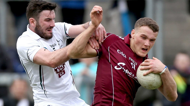 Galway's Sean Moran and Fergal Conway of Kildare