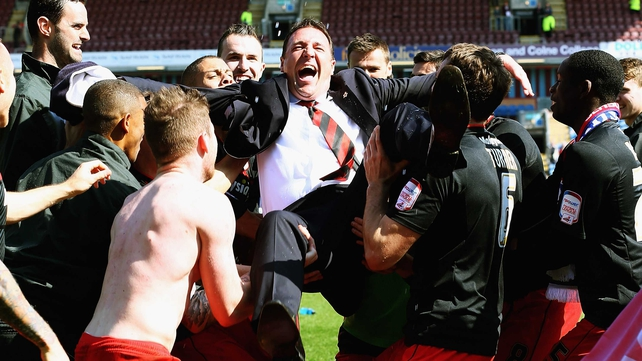 A joyous Malky MacKay gets the bumps