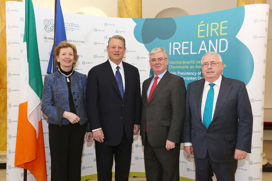 Al Gore attends The Dublin Conference on Hunger - Nutrition - Climate Justice conference