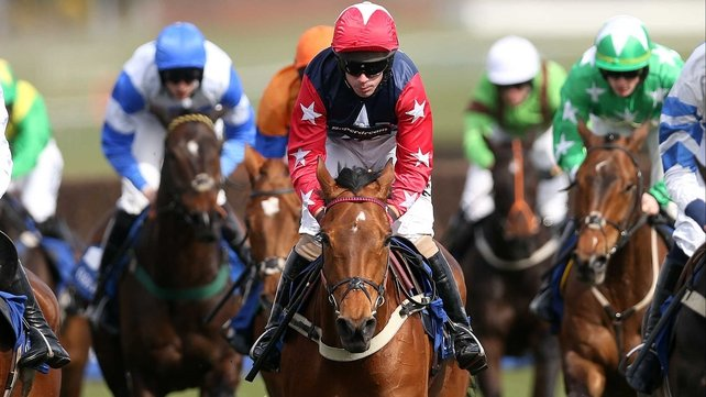 Wayne Hutchinson took Godsmejudge to victory in the Scottish Grand National