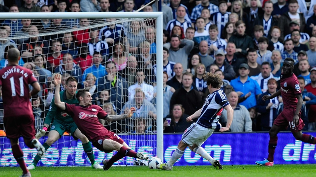 WBA's Billy Jones scores the equaliser