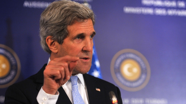 John Kerry said the US wanted a political solution to the crisis