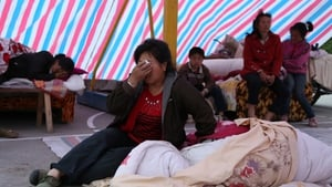 Thousands of survivors spent the night in makeshift tents and shelters
