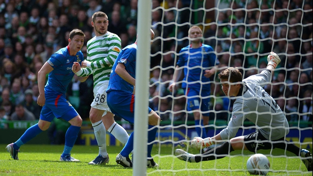 Gary Hooper finds the net for the second time