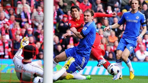 Luis Suarez was at the centre of all the action at Anfield