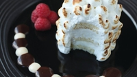 Baked Alaska - This is my twin brother David's favourite dessert. Whenever he comes to the restaurant, we always make this for him and it often even graces the table at Christmas. You're going to be using shop-bought ice cream and cake, so it's worth spending a little time making a perfect shape for the meringue to pipe on