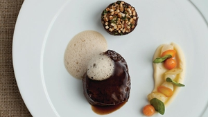 Neven Maguire's Fillet of Dry-aged Beef with Braised Blade and Celeriac Purée