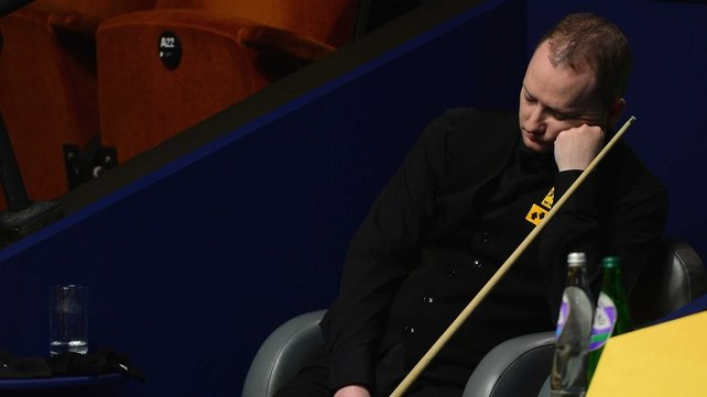 Graeme Dott gets some shut eye during a Peter Ebdon break