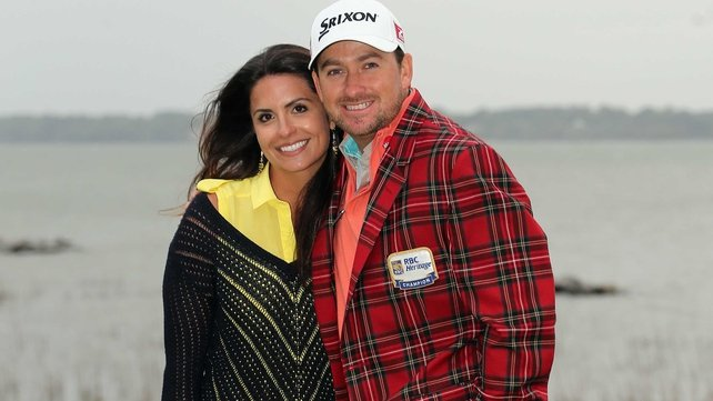 Graeme McDowell sporting the winner's jacket