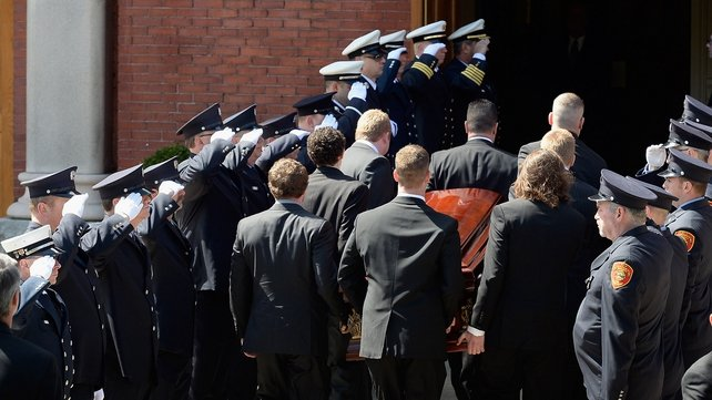 The funeral service of Krystle Campbell takes place