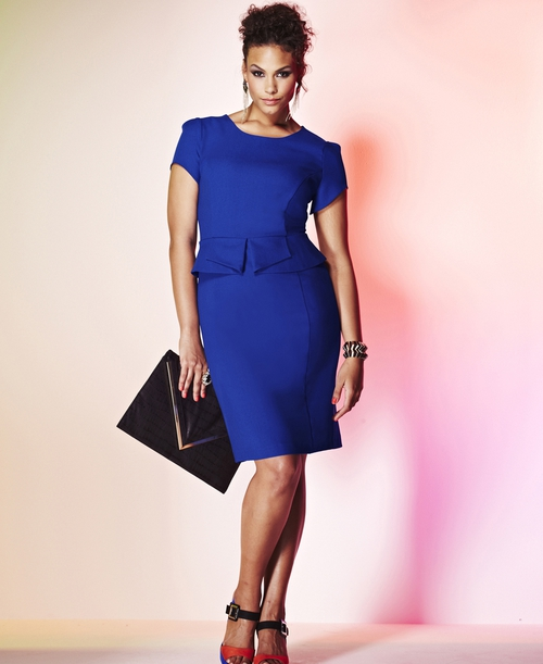 013ec00c72c Simply Be Grazia Fitted Peplum Dress €86