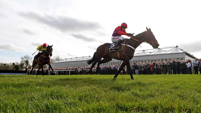 Sprinter Sacre overcame testing conditions to score by five and a half lengths at Punchestown